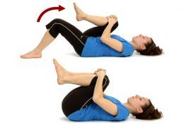 Gluteal stretch exercice lower back pain illustration