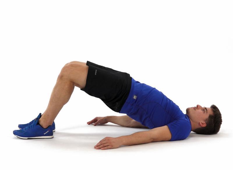 Gluteal bridge exercice lower back pain illustration