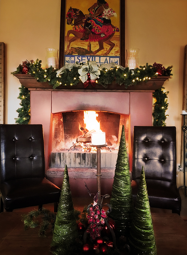 Christmas Holiday Great Hall Fire Fireplace