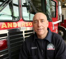 Anderson Township Firefighter/Paramedic Brad Baker