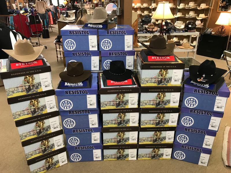 Cowboy hats at Scott Colburn Boots and Western Wear