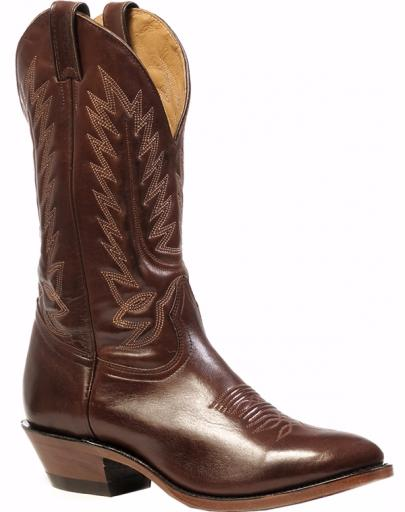 Mens shiny leather cowboy boot