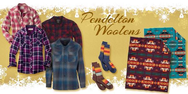 Pendelton woolen flannels_ socks_ and blankets
