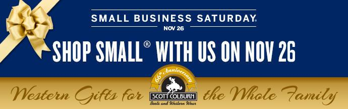 Shop Small with Scott Colburn Boots and Western Wear on Small Business Saturday