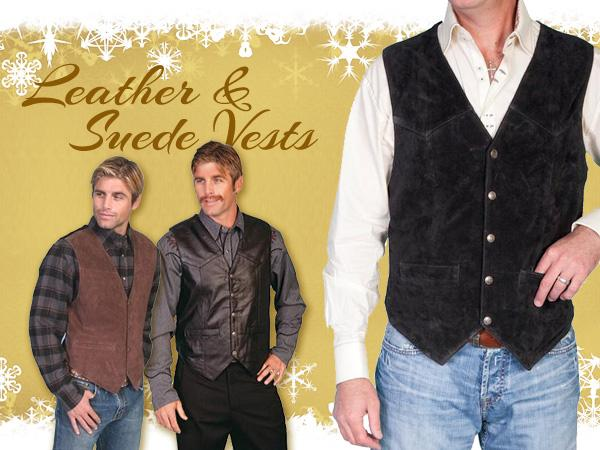 Men_s Western Suede Vest and Leather Vests at Scott Colburn Boots and Western Wear