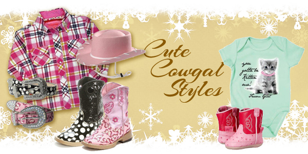 Youth Western plaid snap shirt_ cowgirl hat_ boots_ belts_ and infant onesie and boots