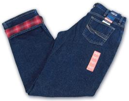 Women_s flannel lined Western jeans