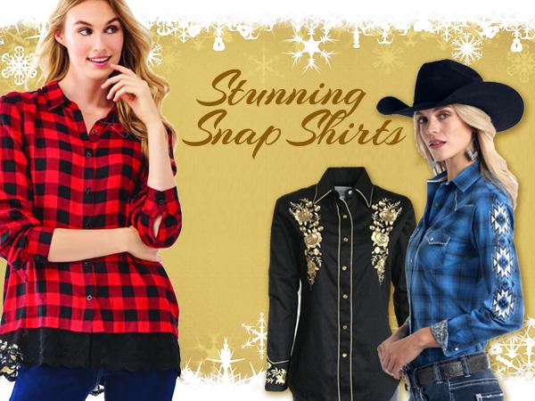 Women_s Western snap and embroidered shirts at Scott Colburn Boots and Western Wear
