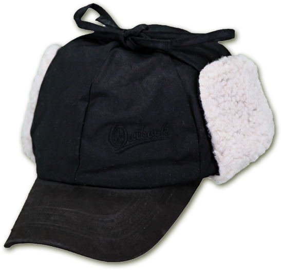 Outback Trading Company McKinley fleece lined ball cap with earflaps