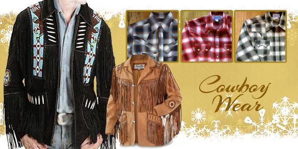 Men_s suede fringe jackets and Rockmount Ranchwear flannerls