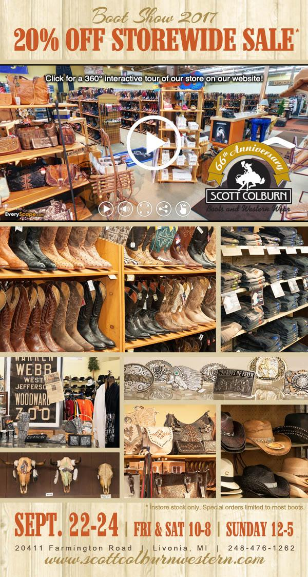Scott Colburn Boots and Western Wear Boot Show Storewide Sale 2017