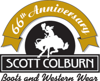 Scott Colburn Boots and Western Wear logo