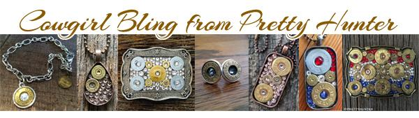 Cowgirl bling jewelry from Pretty Hunter
