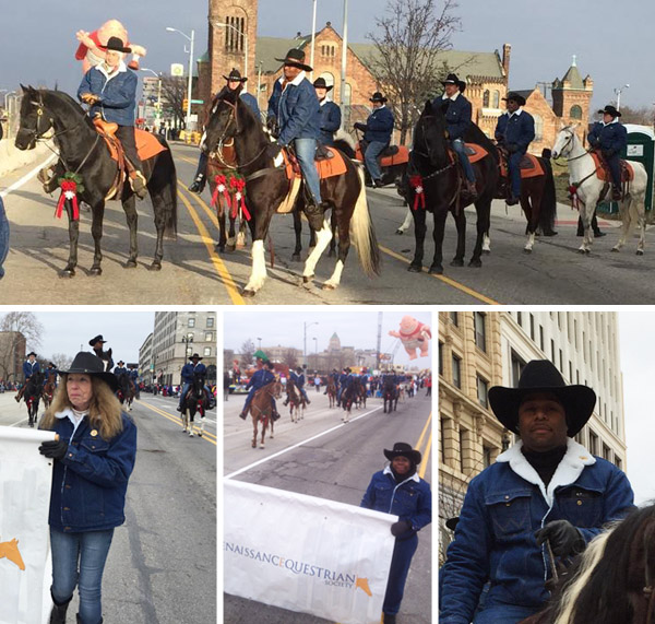Renaissance Equestrian Society at the Detroit Thanksgiving Day Parade
