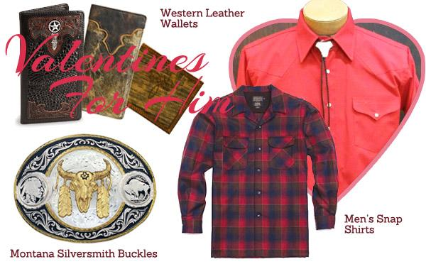 Western Valentine_s Day gifts for men - Western leather wallets_ silver buckles_ snap shirts