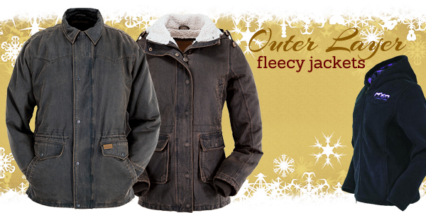 Fleece lined jackets and hoodies from Outback Trading Company