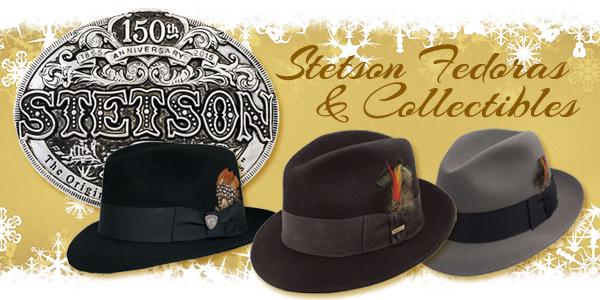 Stetson fedoras and collectible buckles