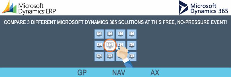 Compare 3 Dynamics 365 ERP Solutions at once