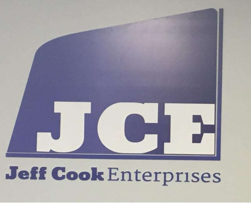 vinyl real estate sign for Jeff Cook