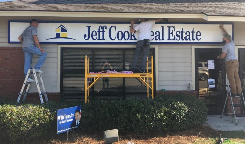 jeff cook real estate outdoor sign