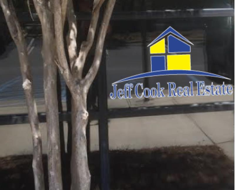 wall sign for Jeff Cook real estate