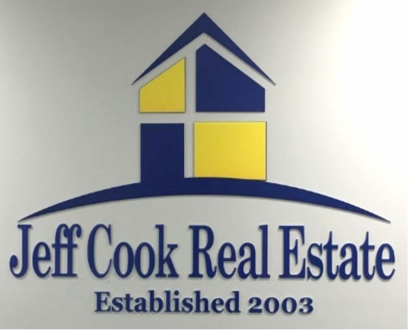 jeff cook real estate wall sign