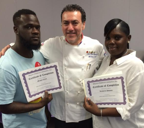 Students with Culinary Apprenticeship Certificated