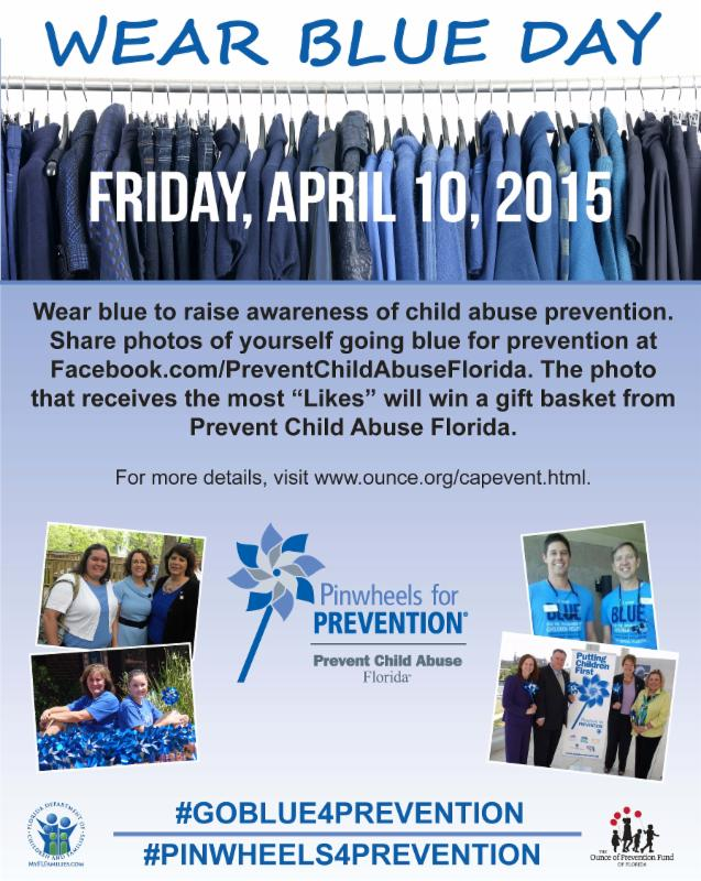 Wear Blue Day Poster
