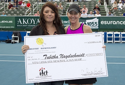 Tabitha Nagelschmidt and Chris Evert