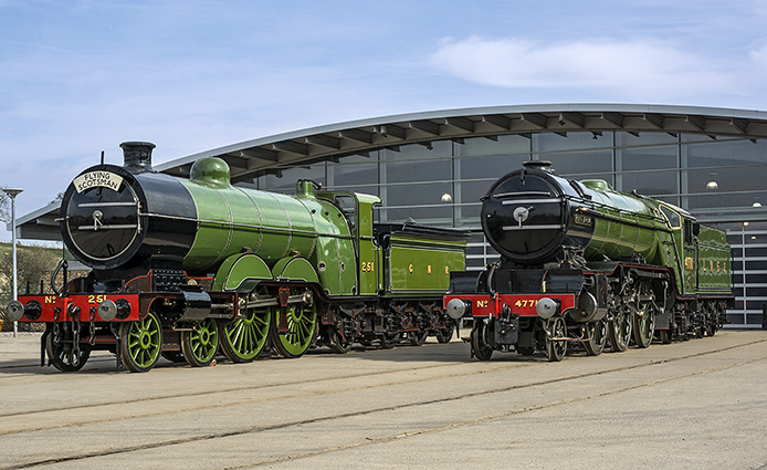 Other Doncaster Beauties at Shildon - Atlantic 251 and V2 4771 Golden Arrow