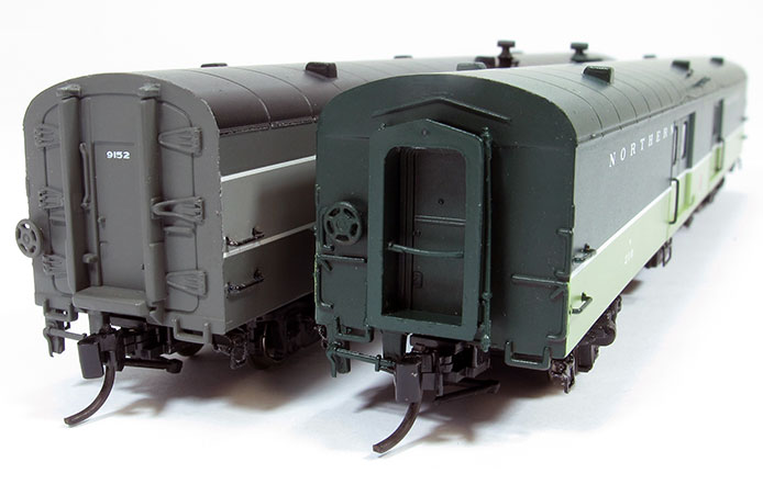 N Scale Baggage Car - End Comparison
