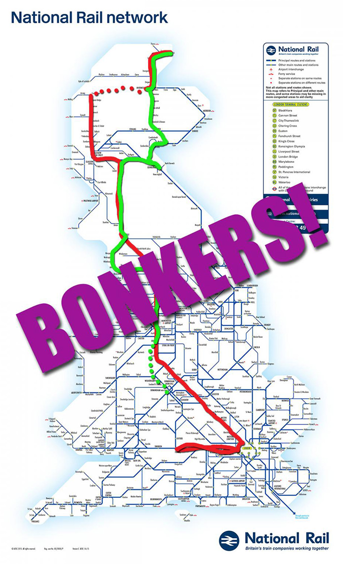 Our BONKERS route around the UK!