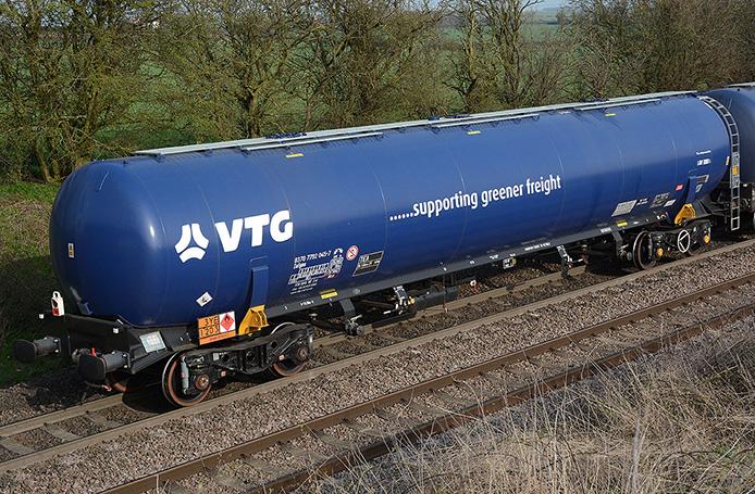 VTG TEA at Elford on its way to Kingsbury Oil Terminal near Birmingham.