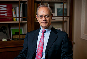 MIT President L. Rafael Reif. Photo, Dominick Reuter.