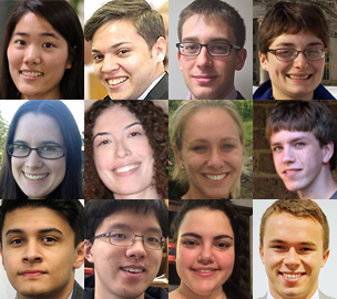 The Materials Processing Center and the Center for Materials Science and Engineering have selected 12 Summer Scholars to work as undergraduate research interns at MIT from June 8 to August 8, 2015.