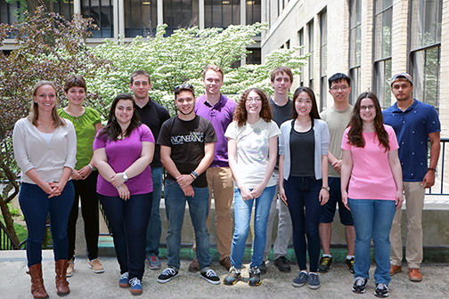 TwelveundergraduateSummer Scholars are working as interns in MIT labs from June 7 to Aug. 8, 2015.