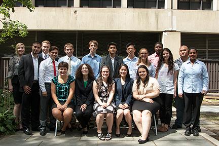 2015 MPC-CMSE Summer Scholars. Photo, Denis Paiste, MPC
