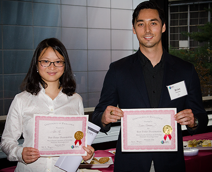 Materials Day Poster Sesion Winner  Lan Li and Brian Pearson_
