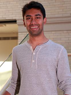 MIT physics graduate student Sagar Vijay. Photo, Denis Paiste