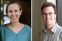 Katharina Ribbeck (left) and Jesse Thaler. Photos, Ribbeck (Ryuji Suzuki) and Thaler (Department of Physics)