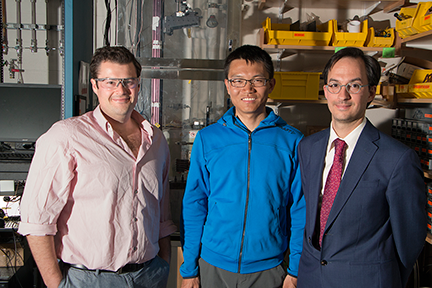 Graduate students Cooper Rinzler and Youyang Zhao and Assistant Professor of Metallurgy Antoine Allanore developed new formulas for predicting which molten compounds will be semiconducting and built a high-temperature thermoelectric test device.