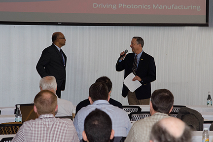 Sanjay Patel_ of Intel_ answers a question. Photo_ Maria E. Aglietti_ Materials Processing Center
