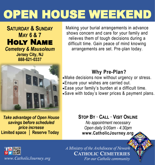 Visit Open House This Weekend at Holy Name Cemetery ... on open living room dining room decorating ideas, open floor, open house performance, open house resources, new construction plans, closed space home plans, open house ideas, open house agents, luxe home plans, open house trends, open house schedules, open house books, open house home, open house layouts, open house green, open house drawings, first home plans, residence design plans, open house goodies, open house forms,