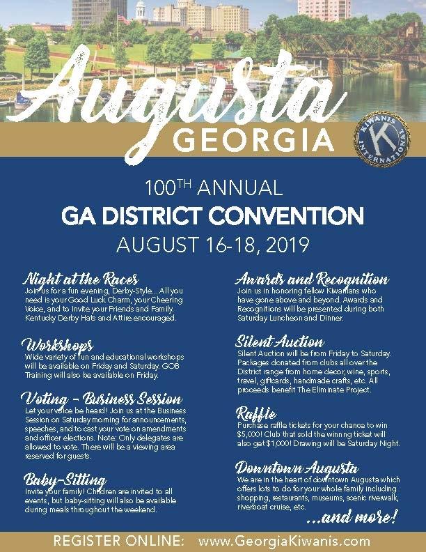 100th Annual Georgia Kiwanis District Convention