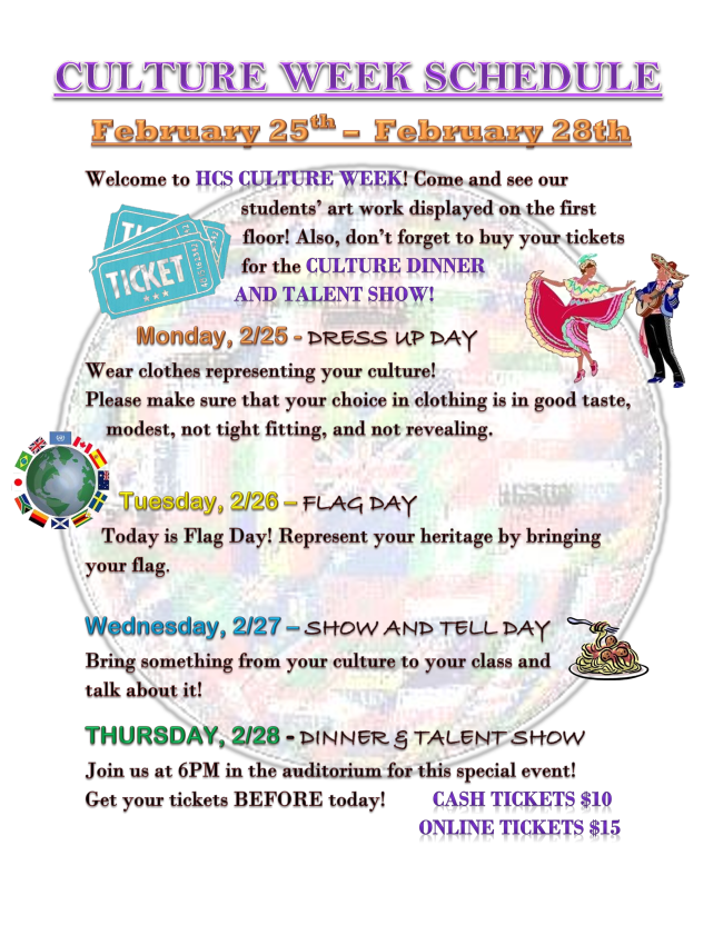 Find out what is happening during Culture Week!