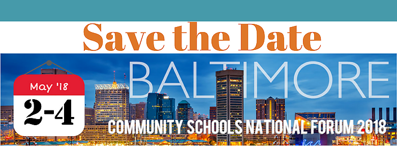 Save the Date  May 2-4  National Community Schools Forum 2018