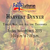 2016 Faith Lutheran Church Harvest Dinner - Adel Iowa