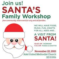 Adel United Methodist Santa Workshop