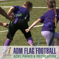 ADM K-3 Flag Football - Adel Iowa