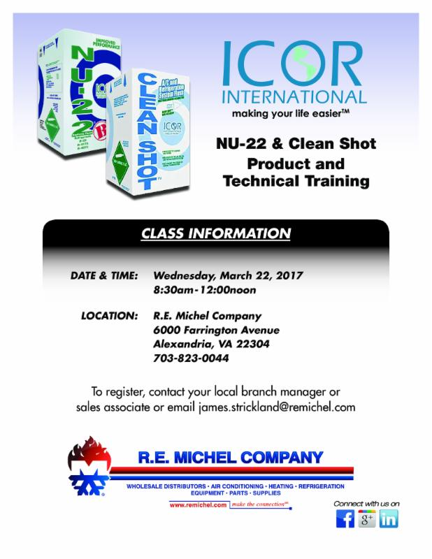Alexandria Va. ICOR Product and Technical Training
